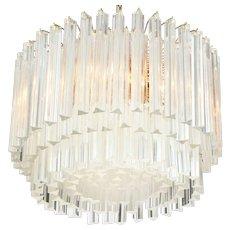 Classic  Italian Mid-Century Modern Prism Chandelier (2 ft. diam.)