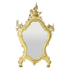 19th Century Venetian Lacquered Mirror