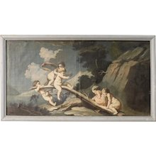18th Century Italian Painting Little Angels' Game