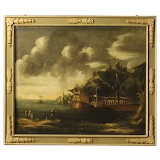 18th Century Italian Painting Depicting Seascape
