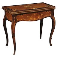 20th Century Italian Inlaid Card Table