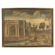 18th Century Antique Italian Landscape Painting