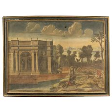 18th Century Antique Italian Landscape Painting