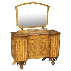 20th Century Italian Dresser With Mirror In Art Déco Style