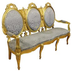 20th Century Italian Golden Sofa