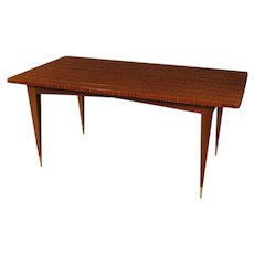 20th Century Italian Design Table In Mahogany