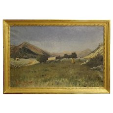 19th Century Antique Italian Painting Oil On Canvas