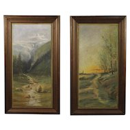 20th Century Pair Of French Paintings In Impressionist Style
