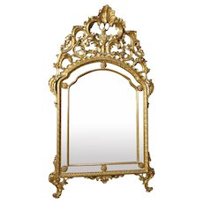 20th Century Italian Gilt Mirror In Louis XV Style