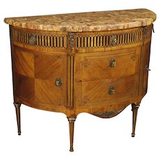 19th Century Demilune Dresser In Louis XVI Style