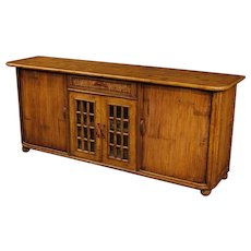 20th Century Spanish Design Sideboard In Bamboo Wood Signed Kalma Ramon Castellano