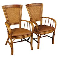 20th Century Pair Of Spanish Design Armchairs