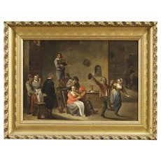 19th Century Dutch Interior Scene Painting
