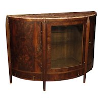 20th Century Dutch Art Déco Sideboard in Mahogany With Marble Top