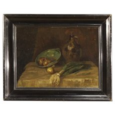 20th Century Dutch Still Life Painting Oil On Canvas Signed Jan Kagie