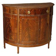 20th Century French Demilune Sideboard In Mahogany Wood