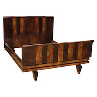 20th Century Italian Double Bed In Wood In Art Deco Style