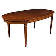 20th Century Italian Dining Table In Inlaid Wood In Louis XVI Style