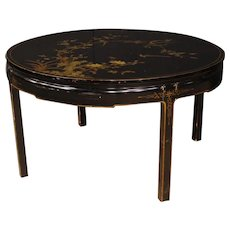 20th Century French Table In Lacquered And Painted Chinoiserie Wood
