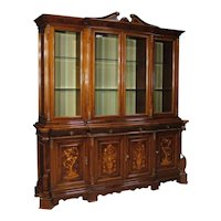20th Century Italian Bookcase in Inlaid Wood