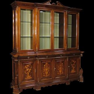 20th Century Italian Bookcase in Inlaid Wood