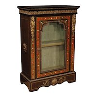 20th Century French Vitrine In Painted Wood In Boulle Style