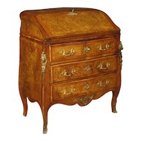 20th Century French Bureau In Inlaid Wood In Louis XV Style