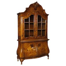 20th Century Italian Display Cabinet In Inlaid Wood