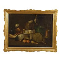 20th Century Spanish Still Life Painting Oil On Canvas