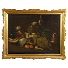 20th Century Spanish Still Life Painting Oil On Canvas