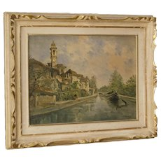 20th Century Italian Landscape Painting In Impressionist Style