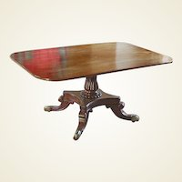 Regency Mahogany Snap Top Breakfast Table