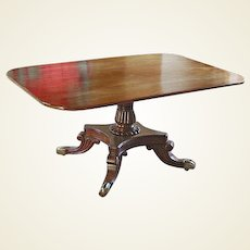 Regency Mahogany Snap Top Breakfast Table
