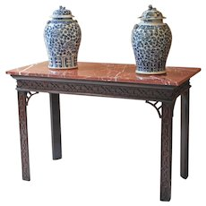 George III Period Mahogany and Fret Carved Serving Table