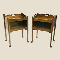 A Pair of George III Period Mahogany Channel Islands Bedside Cupboards