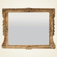 George II Period Giltwood Overmantel Mirror of Large Size