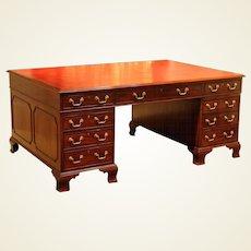 Regency Period Mahogany Partners' Desk