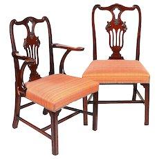 Set of Six Irish George II Period Mahogany Dining Chairs