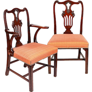 d47ebb24d8811 Set of Six Irish George II Period Mahogany Dining Chairs   Chappell    McCullar