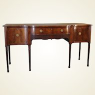 George III Period Mahogany Sideboard of Serpentine Outline