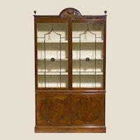 George III Period Mahogany and Glazed Bookcase