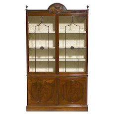 George III Period Mahogany and Glazed Bookcase