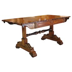 Regency Period Rosewood and Gilt Bronze Mounted Library or Sofa Table