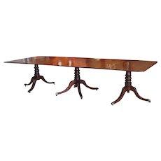 Regency Period Mahogany Triple Pedestal Dining Table