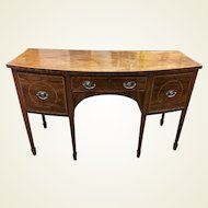 George III Period Inlaid and Crossbanded Mahogany Sideboard
