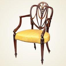 George III Style Shieldback Armchair
