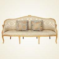 George III period giltwood sofa