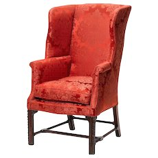 George III period wing armchair, attributable to Wright & Elwick