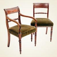 Set of 10 Regency period 'Trafalgar' dining chairs