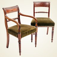 Set of 10 Regency period 'Trafalgar' dining chairs